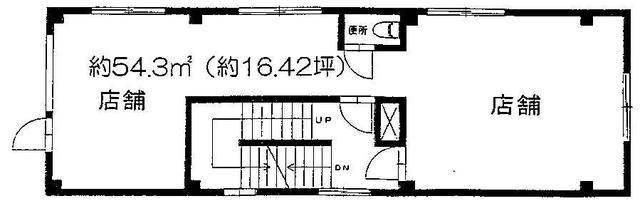 旦過駅 3分 の貸店舗・事務所(一部)