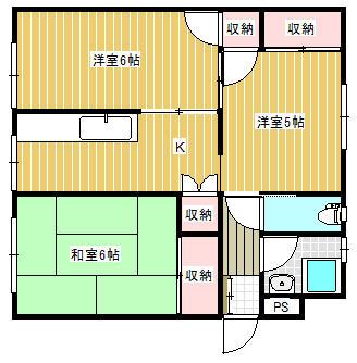 下曽根駅 22分 2階 3K