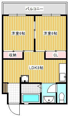 麦谷ビル 5階 2LDK