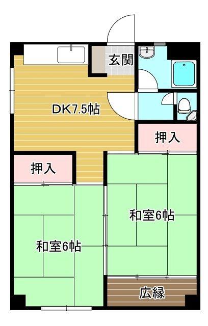 リバーサイド・プリンセス浅香通り 401 2DK