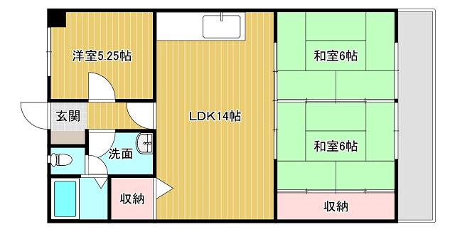 コーポランド折尾東口3LDK